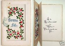 CPA BRODEE  A VOLET BONNE FETE - EMBROIDERED