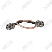BNC Male plug to BNC Male Plug RG316 Pigtail/Jumper Cable 50Ohm 30cm