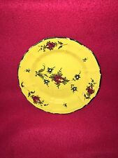 18th Century Yellow Body Delft Faience Plate With Floral Enamel Decoration