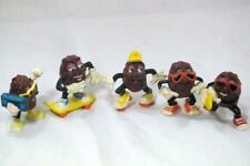 Calrab 1987 California Raisins Set of 5 At The Beach Figures