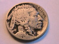 1925-S Buffalo Nickel Fine (F) Grey Tone Original Indian Head 5C US Coin