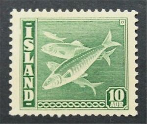 nystamps Iceland Stamp # 221b Mint OG H $78    S17x498