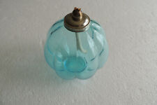 Light Blue 7 Pc Great Summer Patio Decoration Glass Oil Lamp No Oil Included