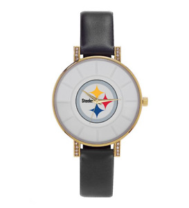 🏈NEW NFL Licensed Pittsburgh Steelers Sparo Lunar Women's Watch +FREE SHIPPING