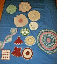 13 piece hand~Crochet Vintage Antique doily lot