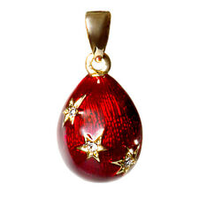 Russian Imperial Egg Pendant Made with Swarovski Crystals in Russia