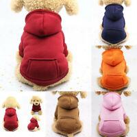 Pet Dog Soft Hoodie Sweater Coat Jumper Clothes Puppy Cat Warm Apparel XS-2XL