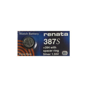 2 BULOVA ACCUTRON Calibers 214//218 Tuning Fork SWISS RENATA Battery 387S (387)