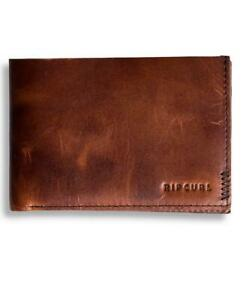Rip Curl HAND-CRAFTED SLIM WALLET Mens LEATHER Wallet New - BWLKV1 Brown
