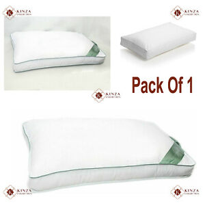 Pack Of 1 Luxury Soft 100% Microfiber Box Pillow Plain Bed Pillow Hotel Quality