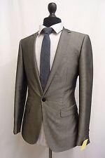 Men's River Island L'Art Grey Slim Fit Suit 38R W34 L32 SS8703