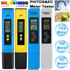 More details for digital lcd ph meter + tds ec temp water purity hydroponic water tester pen kit