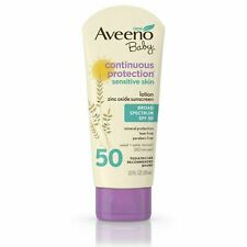 Aveeno Baby Continuous Protection Zinc Oxide Mineral Sunscreen SPF 50 3 FL. Oz