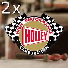 2x Stück Holley Carburetion Autocollante Sticker V8 Hemi Hot Rod Aufkleber gold