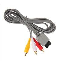 1X 1.8M Audio Video AV Composite RCA Cable TV Cord for Nintendo Wii Game Console