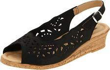 Spring Step Women's Orella Leather Slingback Sandal Black Nubuck- EU SIZE 35 NWB