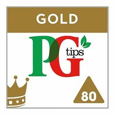 PG Tips Gold 80 Pyramid Tea bags 232G - Sold Worldwide from UK