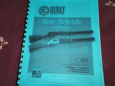 HENRY, Lever Action, .30/30 Rifle, Instruction Manual,   12 Pages