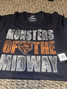 Chicago Bears Monsters Of The Midway 47 Brand Scrum Logo SS T-shirt XXL