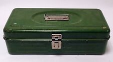 VINTAGE UNION GREEN TOOL BOX 13.5 X 7.25 X 4 IN