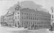 MONTREAL. Donegana's Hotel, destroyed by fire on August 16. Canada, print, 1849