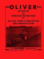Oliver 5440 Bottom Semi Mounted Plow Operators Manual