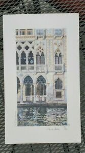 """Alastair Howie lithograph, """"Ca' D'Oro, Venice"""""""