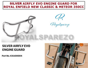 SILVER AIRFLY EVO ENGINE GUARD FOR ROYAL ENFIELD NEW CLASSIC & METEOR 350