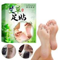 10Pcs Care Wormwood Foot Pads Detoxifying Detox-Paste Chinese Patches Medic N4Y9