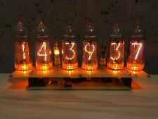 Assembled Big Nixie Tubes Desk Clock and Calendar Vintage IN-14 x 6 Russian