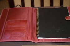 Franklin Cover and Notebook 10 x 7  with pen cover distressed