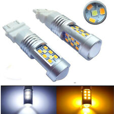 HOTSYSTEM 2x High Power 3157 Dual-Color Switchback 28-SMD LED Turn Signal Bulbs#