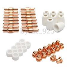 46pcs Consumables For Plasma Cutter 40D CUT40 50D CUT50 Electrodes Tips Nozzles