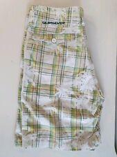 Quicksilver Plaid Palm Chino Walk Shorts Sz 30