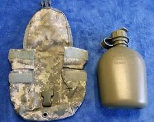 """""""NEW"""" Genuine US Military 1-QT OD Green CANTEEN & NEW ACU Camo MOLLE COVER EXC!"""