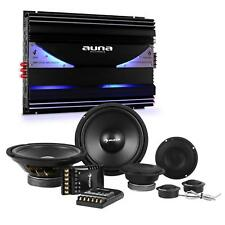 auna Car HiFi Set Subwoofer Stereo Lautsprecher Endstufe 6 Kanal 6400 W Leistung