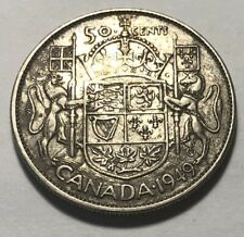 Canada 1949 Fifty (50) Cents Silver Coin - King George VI