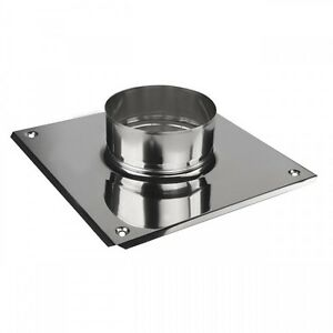Stainless Steel Flue Liner Top Plate with Collar / Flange Chimney Pipe Connector