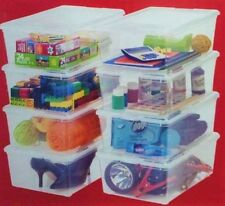 Storage Container -IRIS 8 pack Multi / all purpose USE Large Clear Plastic boxes