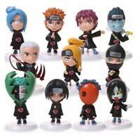 Naruto Shippuden 11 pcs PVC Toy Set Figure Cake Topper  US Seller Free Shipping