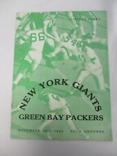 NOV 25, 1945 NEW YORK GIANTS vs GREEN BAY PACKERS POLO GROUNDS FOOTBALL PROGRAM
