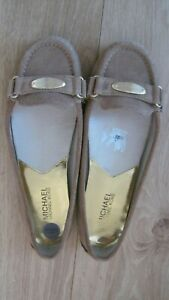 Michael Kors Flat Taupe Leather Pumps size 6 V.G.C
