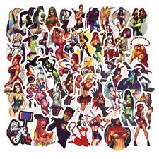 50pcs Retro Sexy Girls Stickers Fresh Laptop Vinyl Stickers Waterproof Pack