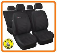CAR SEAT COVERS full set fit Vauxhall Astra H - charcoal grey (P4)