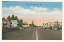 PC, Autos & businesses, main street, Encinitas, San Diego Co., CA, ca1940s-50s
