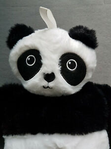 Wärmflasche mit Bezug Panda Pandabär  flauschig 3 D schwarz/weiß NEU