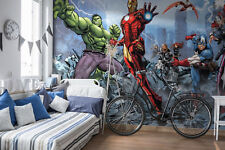 144x100inch Boys Room Wallpaper Mural Marvel Hulk Captain America Thor Iron Man