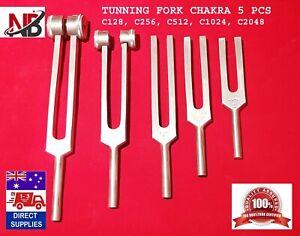 TUNING TUNNING FORK CHAKRA 5 PCS SET Diagnostic MADE OF ALUMINIUM Top Quality