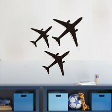Wall Decal Three Plane/Aircraft Kids Room Decor Home Vinyl DIY Sticker Removable