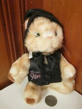 "Morris The Cat 9 Lives Food 6"" Brown Plush Stuffed Animal Formal Vest Hat BowTie"